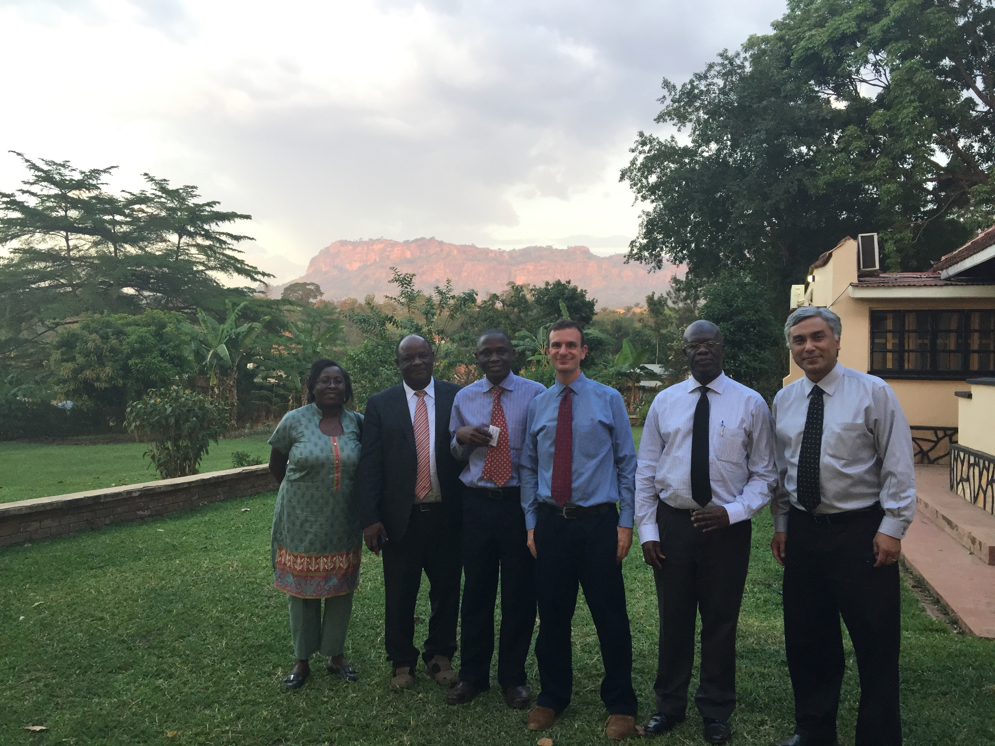 Heller in Uganda with fellow researchers.