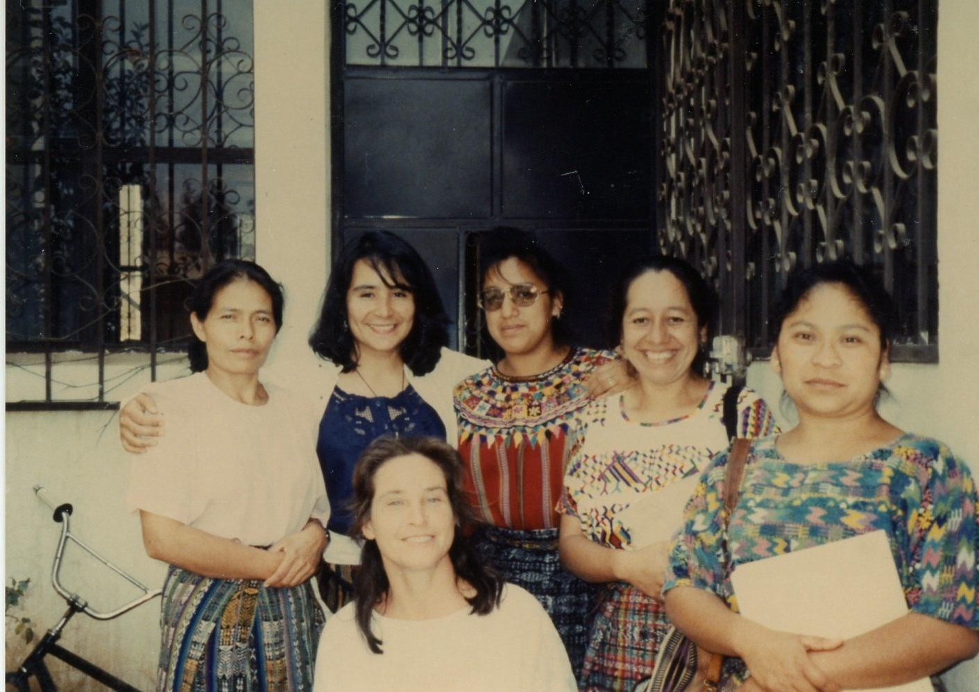 With colleagues from ASECSA team involved in training of Community Health Workers on sexual and reproductive health, Guatemala, 1998.