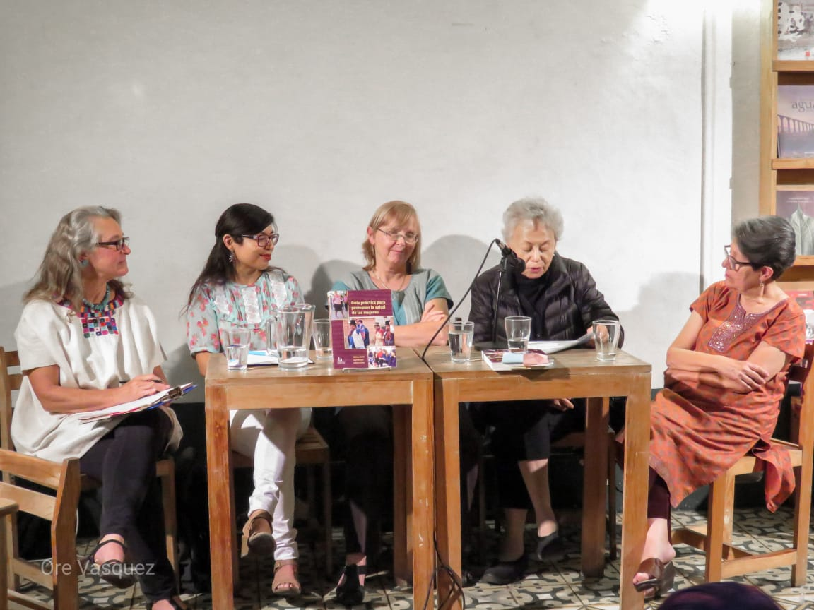 Panel at the book launch in Oaxaca